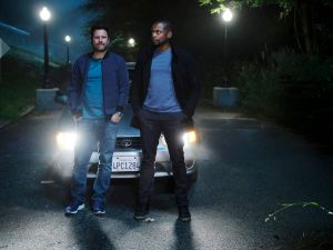 James Roday as Shawn Spencer, Dule Hill as Gus Guster is Psych: The Movie.