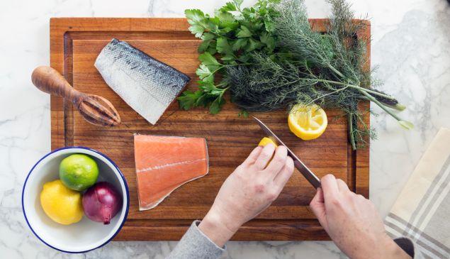 Preparing food from Sea 2 Table.