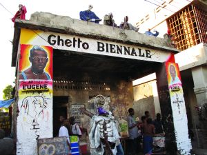 Entrance to Ghetto Biennale, 2016.