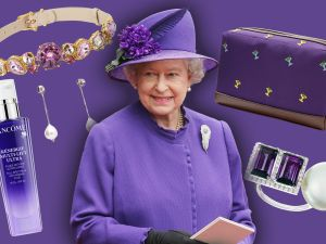 Scroll through for 11 ultra violet buys to buy to channel your inner Queen Elizabeth.