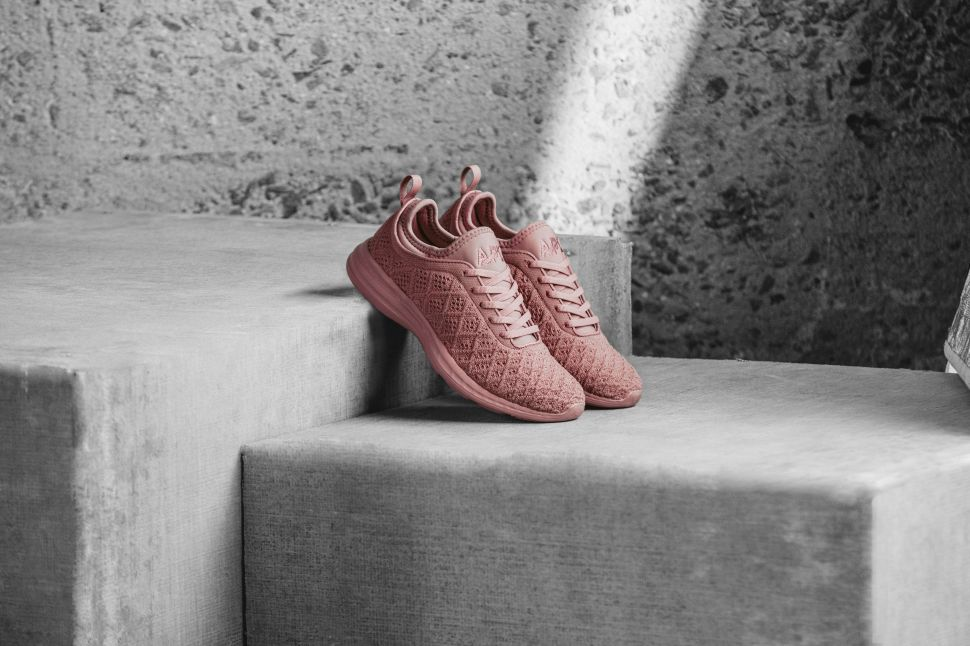 Lululemon and APL Collaborated on a Pair of Cinder Rose Sneakers
