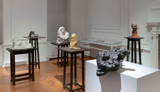 Installation view of Medardo Rosso at Thaddaues Ropac.