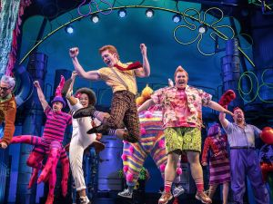 Ethan Slater and cast in SpongeBob SquarePants.