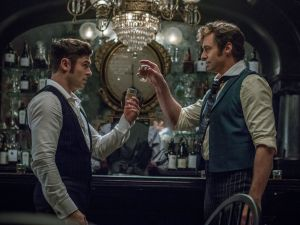 Hugh Jackman and Zac Efron in The Greatest Showman.