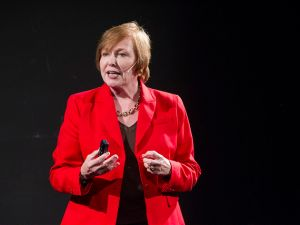Dr. Brenda Fitzgerald gives a TED Talk in 2014.