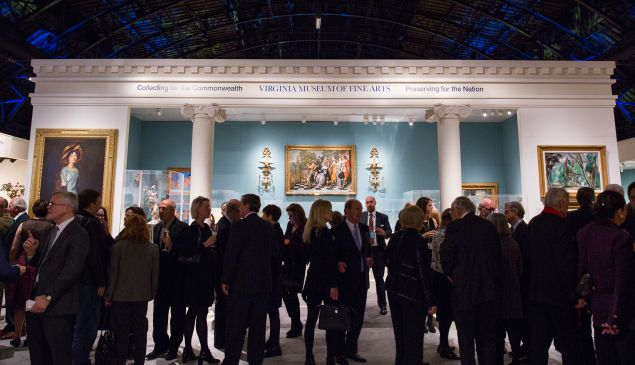 The entrance to the 2018 Winter Antiques Show.