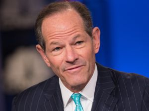 Former Gov. Eliot Spitzer speaks during an interview on Jan. 5, 2015.