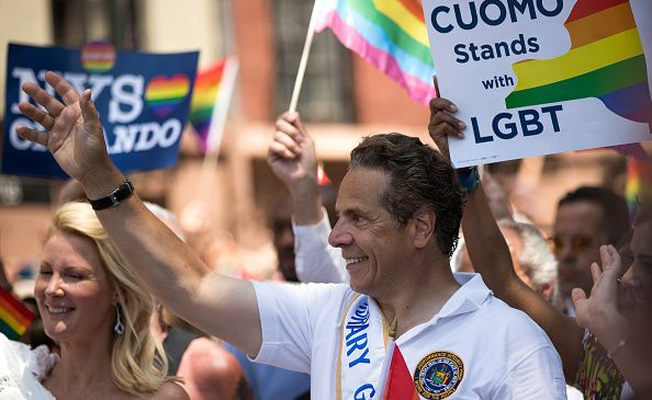 Gov. Andrew Cuomo marches in the New York City Pride March on June 26, 2016 in New York City. (Photo by Drew Angerer/Getty Images)