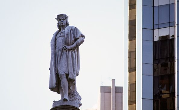 The monument to Christopher Columbus in Columbus Circle on the Upper West Side.