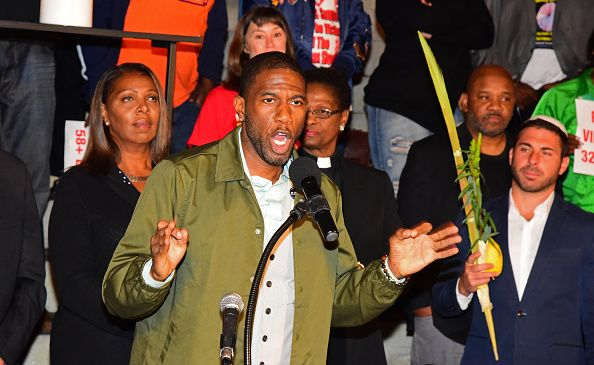 Brooklyn Councilman Jumaane Williams speaks at a rally denouncing the deadly shooting spree in Las Vegas at Brooklyn Borough Hall on Oct. 3, 2017.