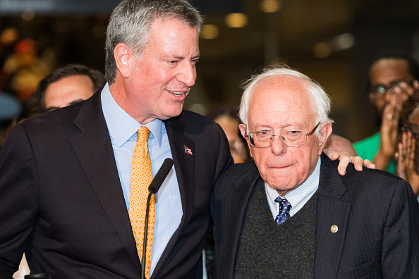 Bernie Sanders Swears in Mayor Bill de Blasio for His Second Term