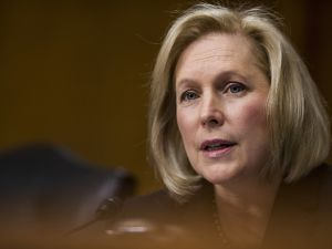Sen. Kirsten Gillibrand, a Democrat from New York, speaks during a Senate Committee on Environment and Public Works Subcommittee on Transportation and Infrastructure hearing in Washington, D.C., U.S., on Dec. 20, 2017.
