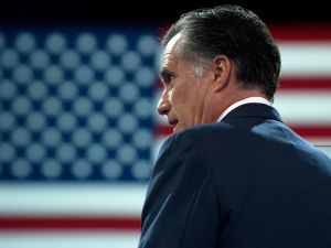 Former US Republican presidential candidate Mitt Romney )