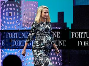 Marissa Mayer speaks during the Fortune Global Forum on November 3, 2015 in San Francisco.
