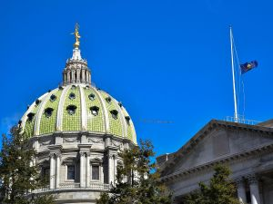 PA State Capitol Building.