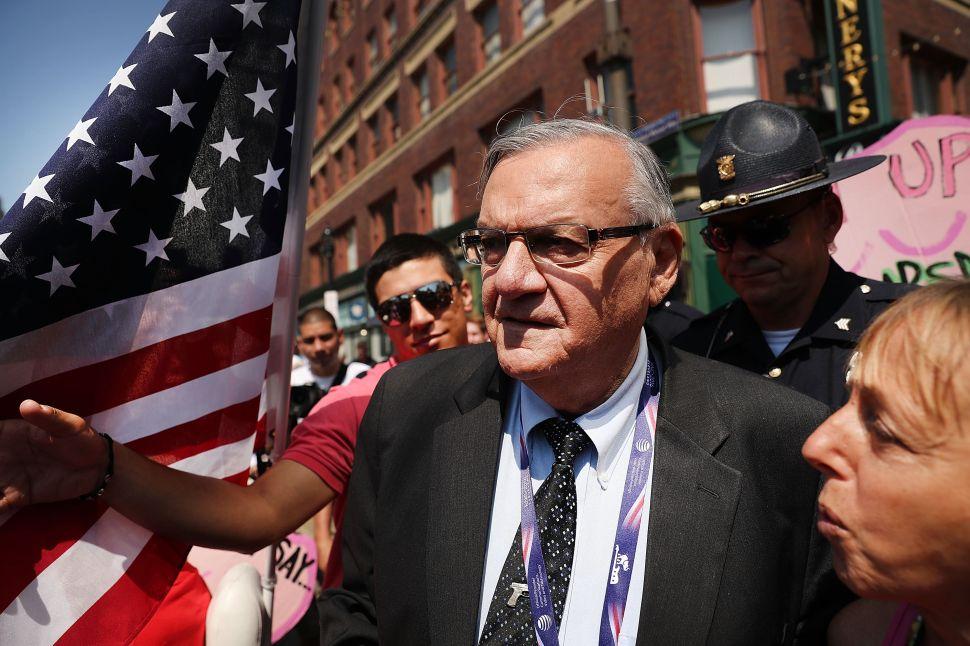 As Trump Support Fades, Joe Arpaio Picks Up Baton
