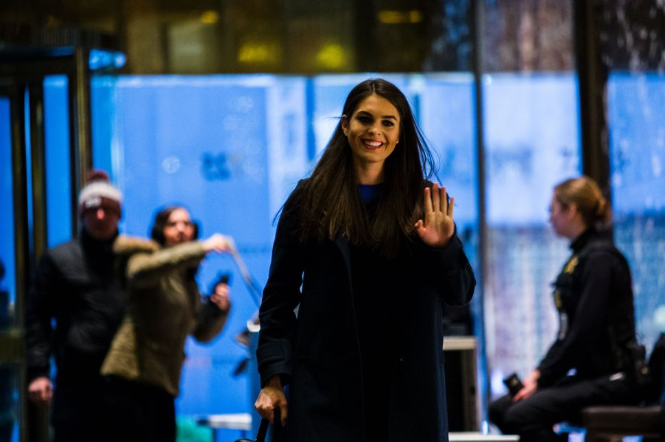Business Insider Wins for Hope Hicks Takedown, Most Sexist Story of 2018