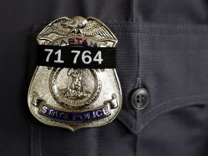 Police badge.