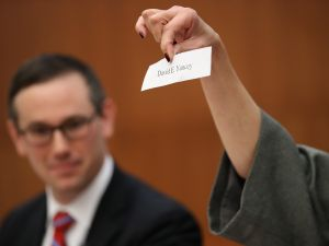 Virginia House of Delegates candidate David Yancey's name was drawn.