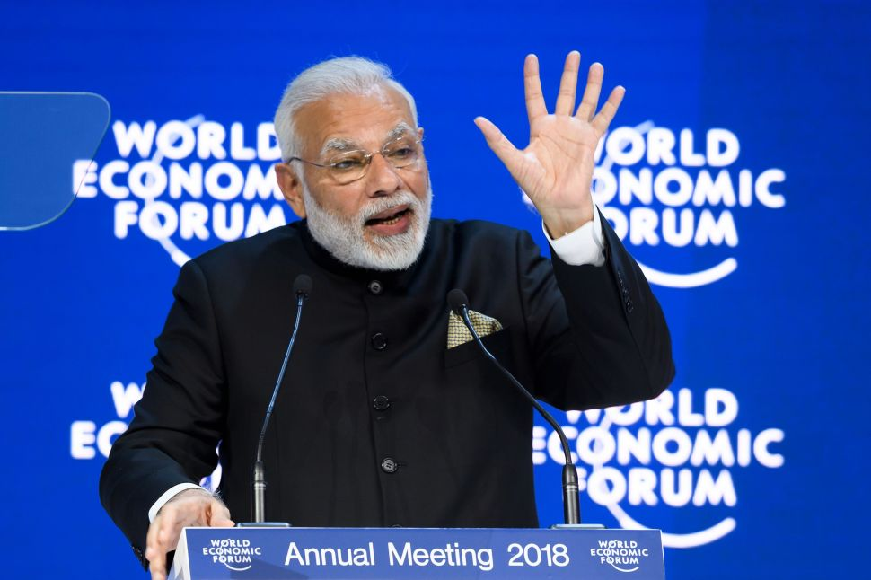 India's PM Warns Against Isolationism at World Economic Forum Ahead of Trump
