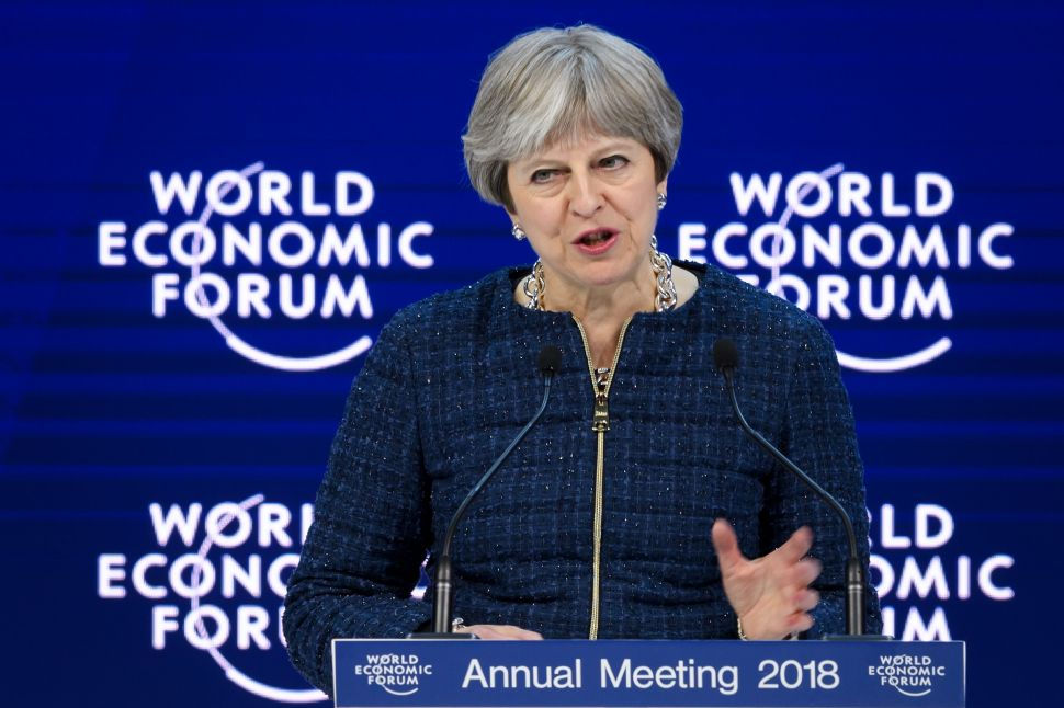 Theresa May's Push for AI Research at Davos Proves It's the 'Ultimate Tool'