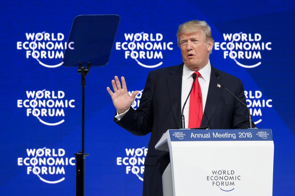 Trump Tells World Leaders 'America Is Open for Business' at World Economic Forum
