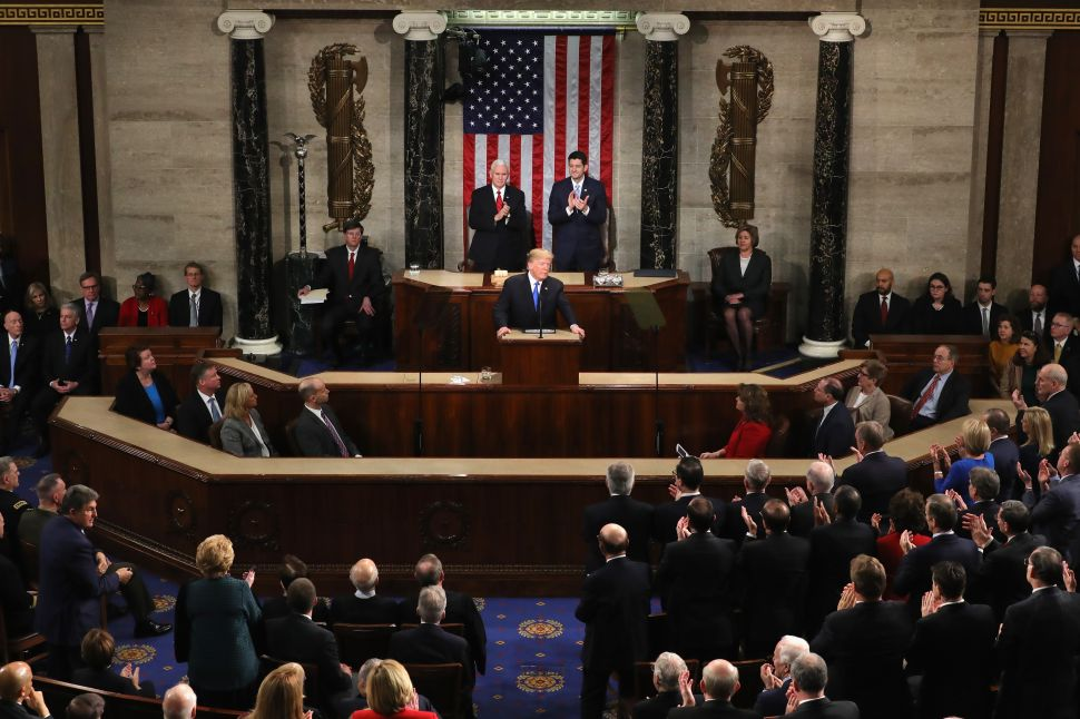 Trump's State of the Union Down in Ratings From 2017