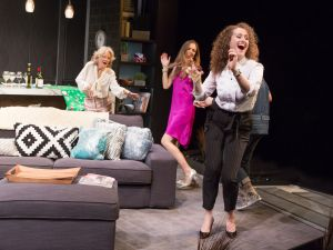Hayley Mills, Allison Jean White and Brenda Meaney in Party Face at City Center Stage II.