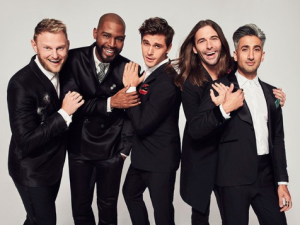 Bobby Berk, Karamo Brown, Antoni Porowski, Jonathan Van Ness, and Tan France.