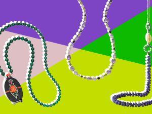 Click through for Mardi Gras beads you won't want to throw.