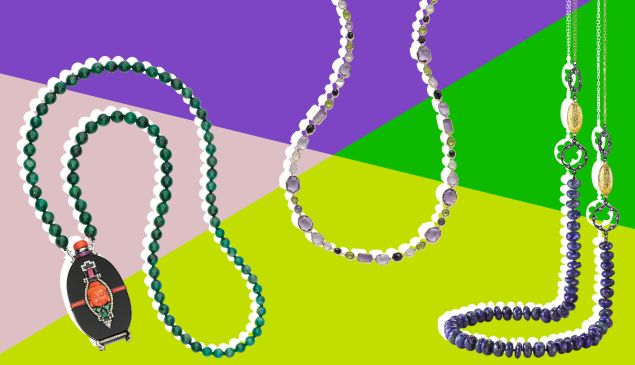 Click through for Mardi Gras beads you won't want to throw.