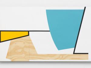Serge Alain Nitegeka, Colour & Form XXXVII, 2017. Paint on wood, 43 1/4 x 74 5/8 in.
