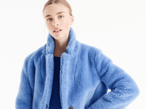 J.Crew Faux Fur Coat.
