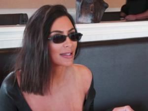 Make like Kim Kardashian and start wearing tiny sunglasses.