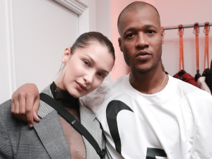 Bella Hadid and Heron Preston.