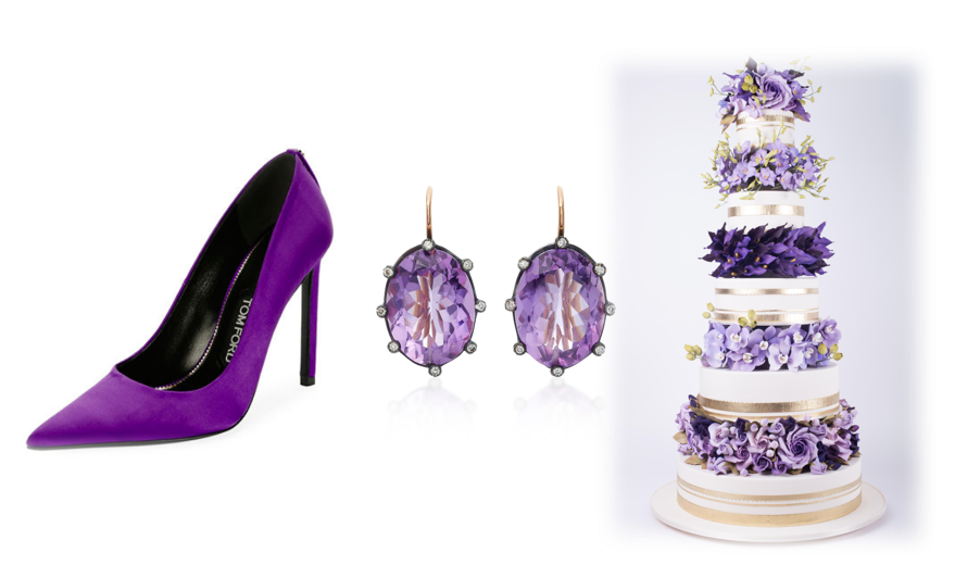 7 Ways to Use Ultra Violet, Pantone's Color of the Year, In Your Wedding