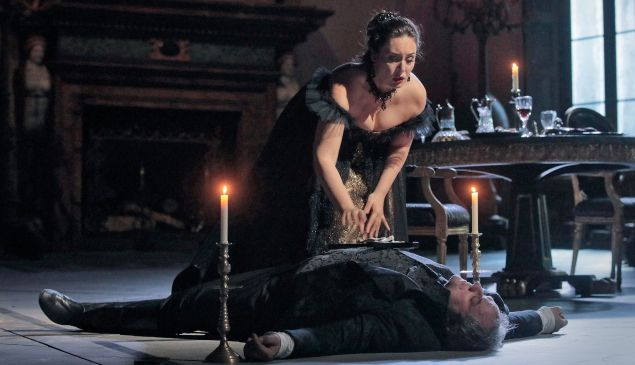 Diva Tosca (Sony Yoncheva) survives, but the opera 'Tosca' is DOA at the Met.