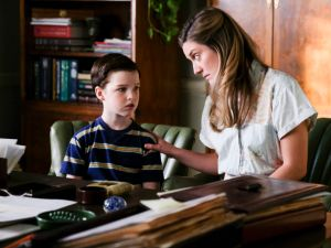 Iain Armitage and Zoe Perry in Young Sheldon.
