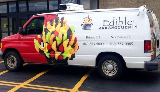Is this Edible Arrangements truck headed to the courthouse?