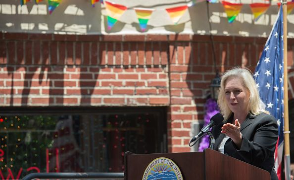 Sen. Kirsten Gillibrand speaks at a ceremony designating the Stonewall In as a National Monument on June 27, 2016 in New York City.
