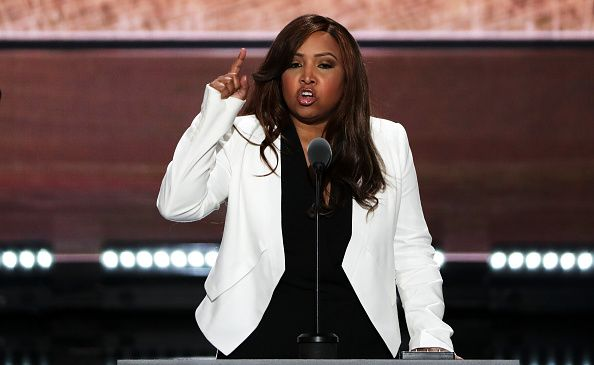 Lynne Patton, vice president of the Eric Trump Foundation, at the Republican National Convention.