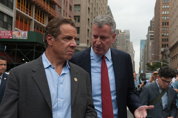 De Blasio Meets with Cuomo in Albany Amid Disagreements Over MTA Funding