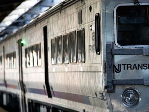 A New Jersey Transit train arrives at Hoboken Terminal during morning rush hour on Oct. 10, 2016 in Hoboken, New Jersey. (Photo by Drew Angerer/Getty Images)