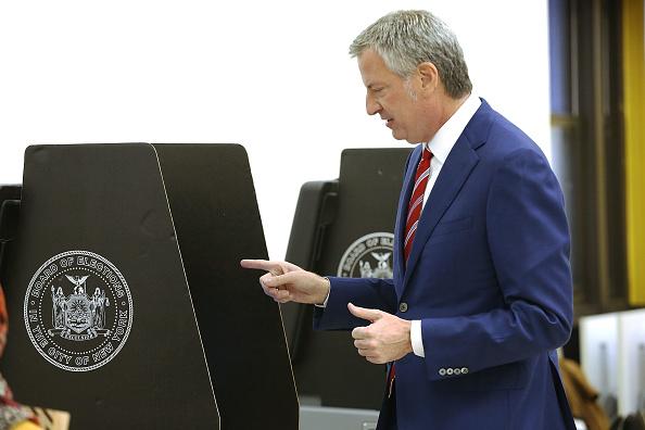 Bill de Blasio Looks to Boost Voter Turnout in New York City