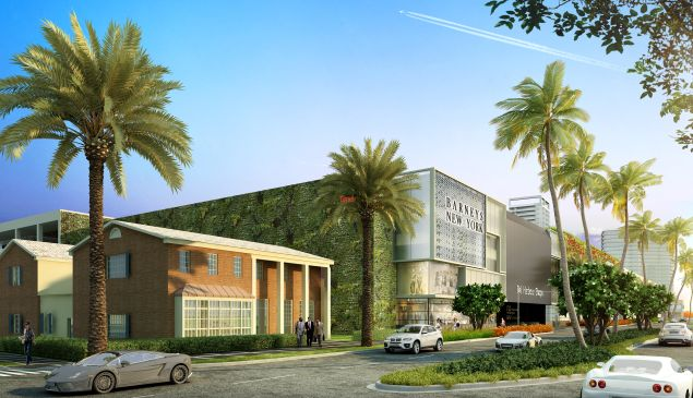 A rendering of Barneys New York in Bal Harbour Shops.