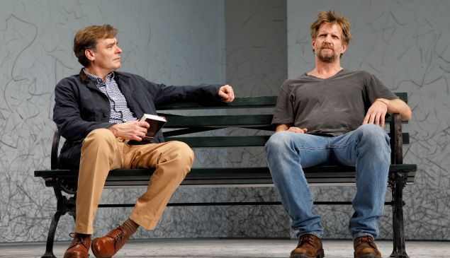 Robert Sean Leonard and Paul Sparks in At Home At The Zoo.