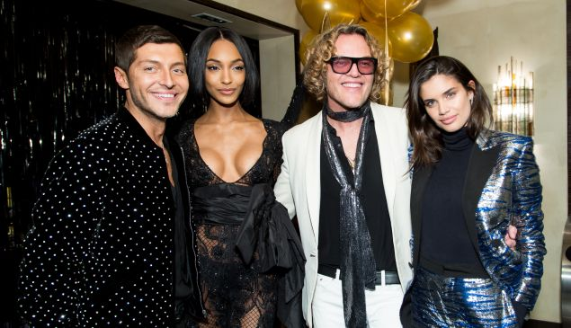 Evangelo Bousis, Peter Dundas, Jourdan Dunn and Sara Sampaio.