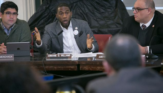 Brooklyn Councilman Jumaane Williams speaks during a City Council hearing on the NYPD's policing of protests on Feb. 7, 2017 in New York City.