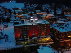 Aerial view of the Hotel Saranac.