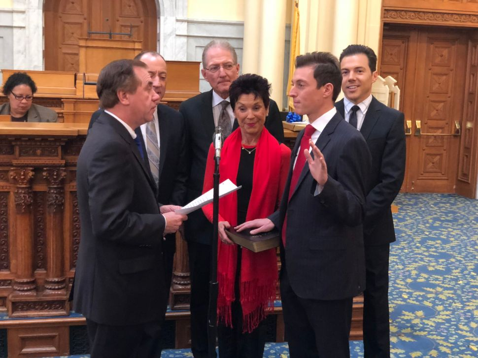 New Jersey Swears in Its Youngest New Lawmaker